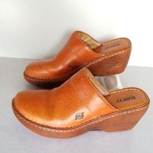 "Born Leather ""Clog"" Mules"